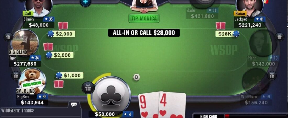 Poker game rules in cash rounds